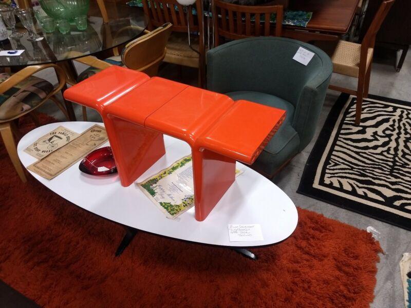 Kay Leroy Ruggles orange UMBO Modular side Table/Bench for Directional: HTF