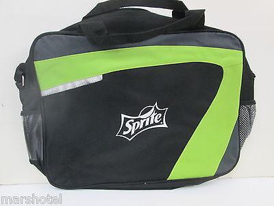 SPRITE LEMON LIME SODA MESSENGER BRIEF BAG GREEN/BLACK LAPTOP TOTEBAG