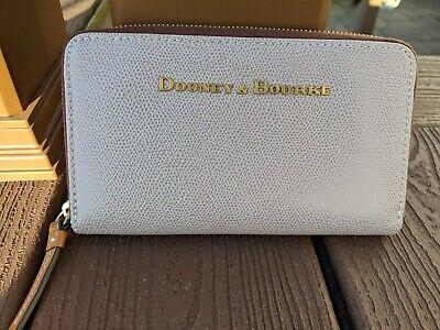 Dooney & Bourke Oyster Claremont Embossed Zip Around Phone Wallet