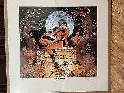 """Dave Stevens Elvira """"Back From the Grave!"""" Poster - SIGNED"""