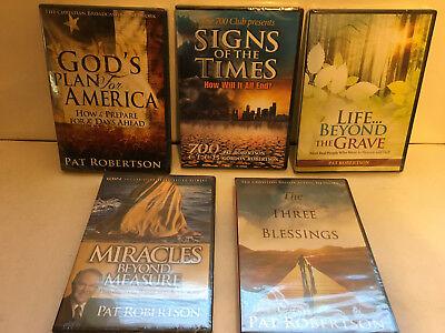 Evangelist Pat Robertson Lot 4 Dvds  1 Cd  New Sealed Cbn  700 Club