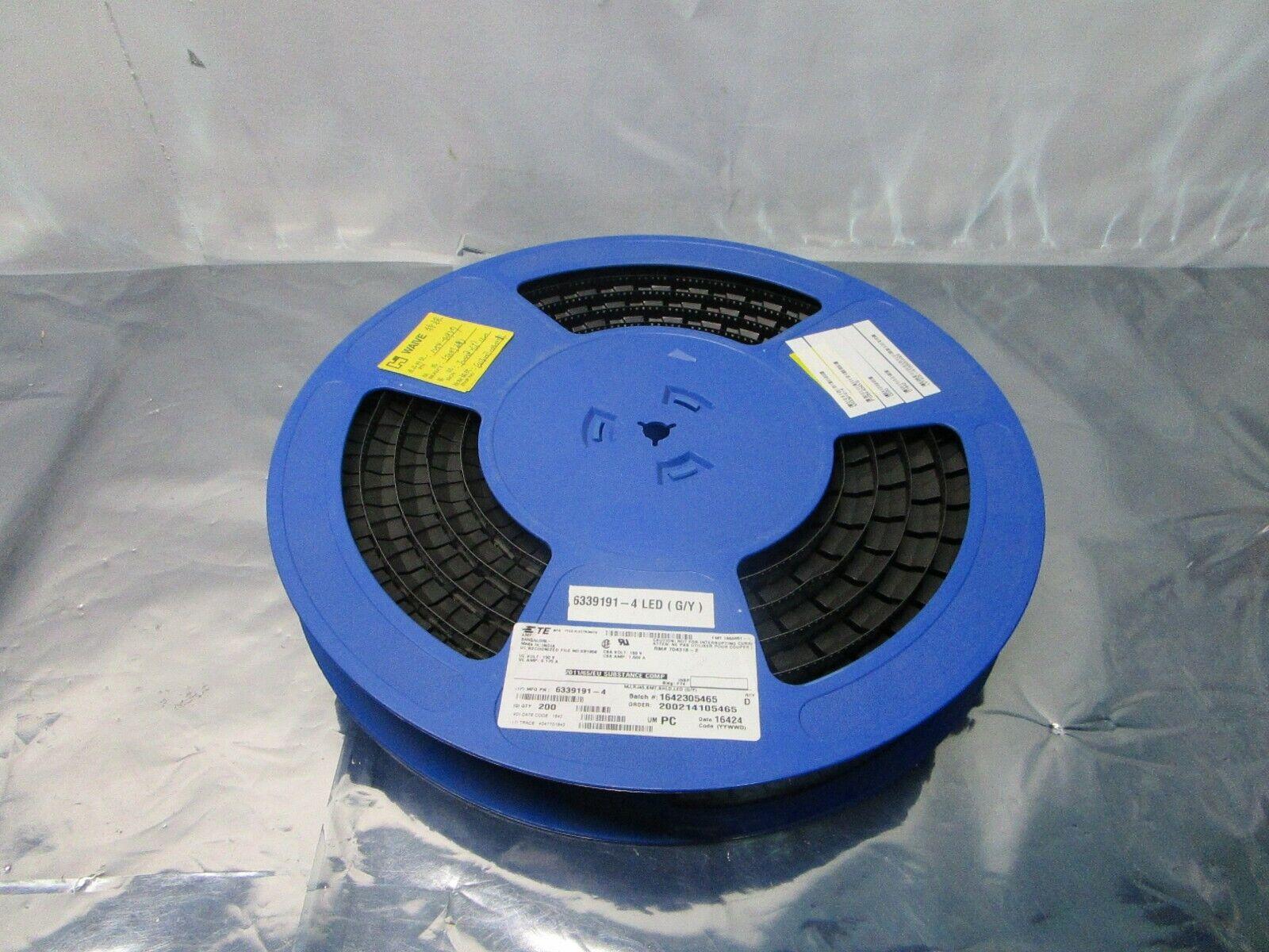 1 Lot of 200 Tyco Electronics 6339191-4 MJ, RJ45, SMT, Shield, LED, 102379