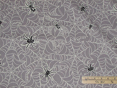 Spooktacular Spider Web Halloween Fabric by the 1/2 Yard  #101.107.09.2](Halloween Spider Web Crafts)