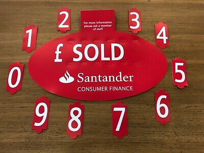 5 X RED For Sale Sign Board,Car Price/Pricing Sun Visor, Vehicle/Auto Price Kit