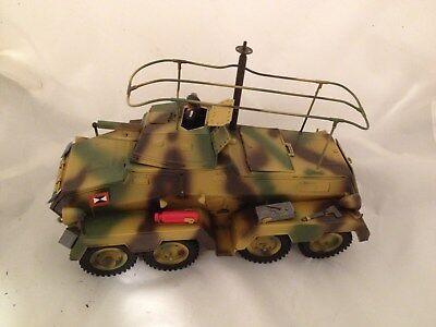Hausser 8 Rad Spähpanzer Tank von ca.1985  L: 29 cm für Elastolin Lineol Figuren