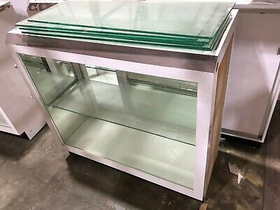 Display Case Retail Store Counter Glass Shelves Wooden Case