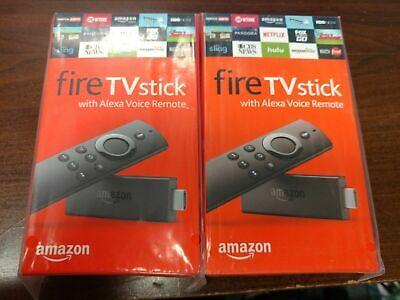 Two Amazon Fire TV Stick HD 2019 w/Alexa Voice Remote 2x Lot $42 EACH!!!