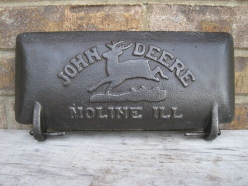 Vintage Antique Cast Iron John Deere Sickle Bar Mower Tool Box Lid Cover Nice!!