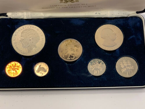 1973 Jamaica Proof Set with 5 Dollar Sterling Silver Coin in OGP with COA