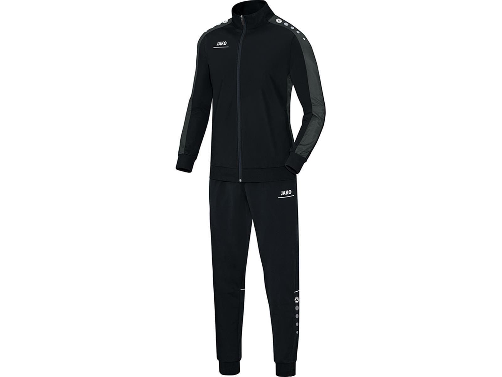 Jako Trainingsanzug Polyester Anzug Striker Sport Fitness Jogging Herren/Kinder schwarz