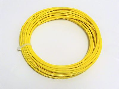 16 Gauge Wire Yellow 50 Ft Primary Awg Stranded Copper Power Ground Mtw Vw-1 Tew