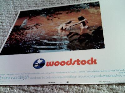 WOODSTOCK RARE ORIGINAL 1970 American US 11x14 LOBBY CARD #7 MINT AUTHENTIC HTF!