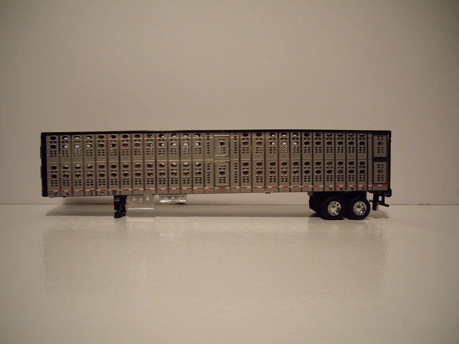 DCP FIRST GEAR 1/64 BLACK AND SILVER PSAL TANDEM AXLE LIVESTOCK  1
