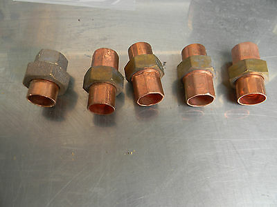34 Union Copper Plumbing Fitting Bag Of 5 Pcs