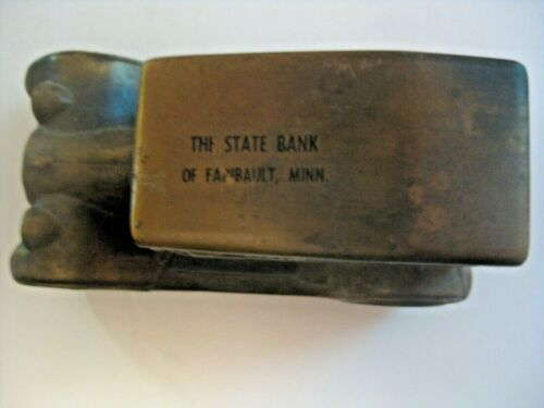 VINTAGE STATE BANK FARIBAULT MINNESOTA ADVERTISING CAST 1917 CAR COIN BANK