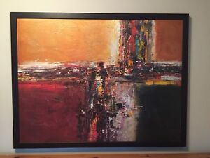 large canvas framed abstract art