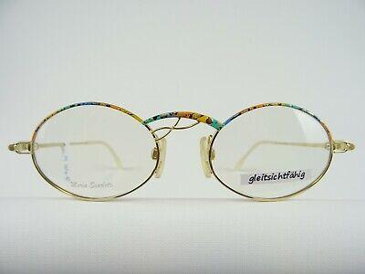 Scarlotti Markenbrille für Frauen mit ovalen Gläsern, bunte Frühlingfarben Gr. M
