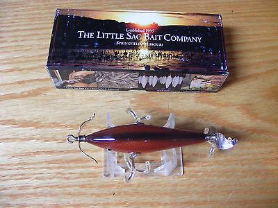 Little Sac Bait Co Niangua Minnow Glasseye Lure in Red Scale Color NIB