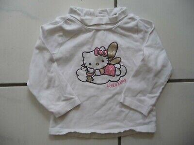 Hello Kitty Rollkragen Pullover Langarm Shirt Kinderkleidung Kindermode weiß 68 Hello Kitty Kragen