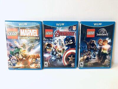 LEGO Wii U Triple Pack: Jurassic Park, Avengers & Marvel Super Heroes (Nintendo)