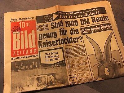 Bildzeitung BILD 28.12.1956 * Das besondere Geschenk zum 62. 63. 64. Geburtstag