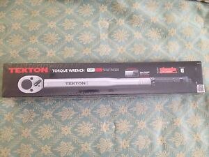 Tekton Torque Wrench 1/2 Drive 10-150 Foot Pounds Case