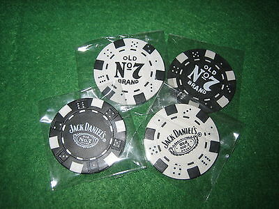 4 x *JACK DANIELS* POKER CHIP FRIDGE MAGNETS........,..