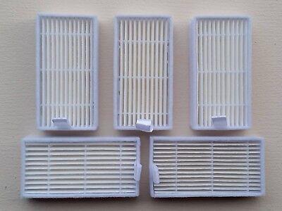 Hepa-filter (5 Hepa Filter für Saugroboter Medion MD 16192/18500 Zubehör)