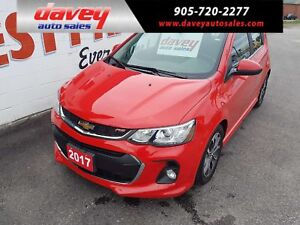 2017 Chevrolet Sonic LT Auto RS PKG, SUNROOF, HEATED SEATS
