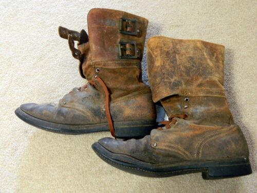 Double Buckle Combat Boots, Size 10 1/2