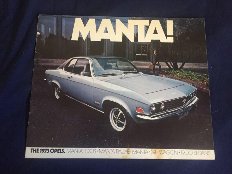 1973 Buick Opel GT Manta Rallye Luxus USA Market Color Brochure Catalog Prospekt