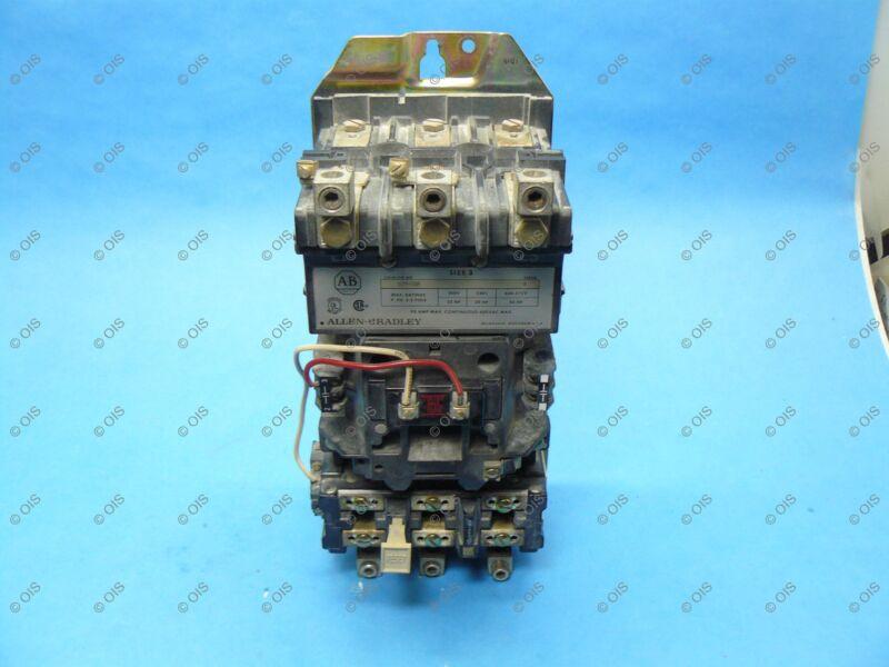 Allen Bradley 509-DOD Starter 3 Pole NEMA Size 3 120 VAC Coil Tested