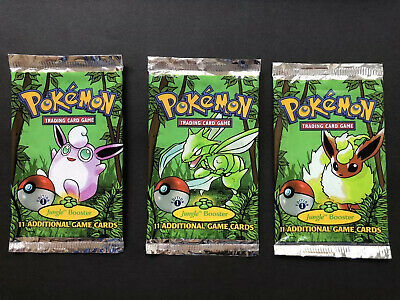Pokemon Jungle 1st edition booster pack - All 3 artworks. EMPTY PACKS