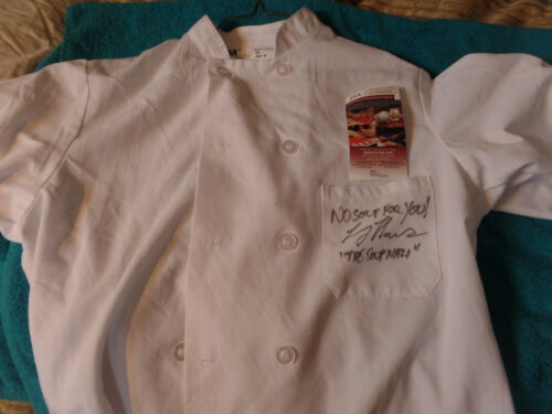 Seinfeld Soup Nazi  autographed White Jacket JSA Certified No Soup for you added