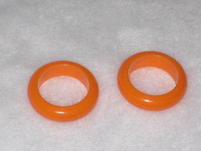 Lucite Orange Rings Size 5