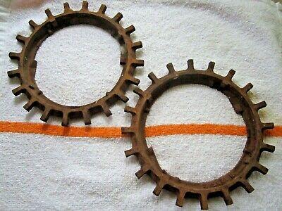 2 Vintage John Deere Cast Iron H1255b Seed Planter Plate Ring Steampunk