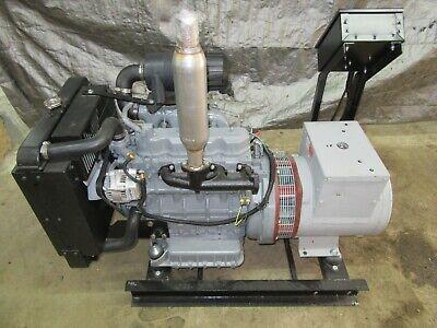 20 Kw Diesel Kubota Generator 12 Lead Reconnecable 120240 Volt 1 Ph Marathon