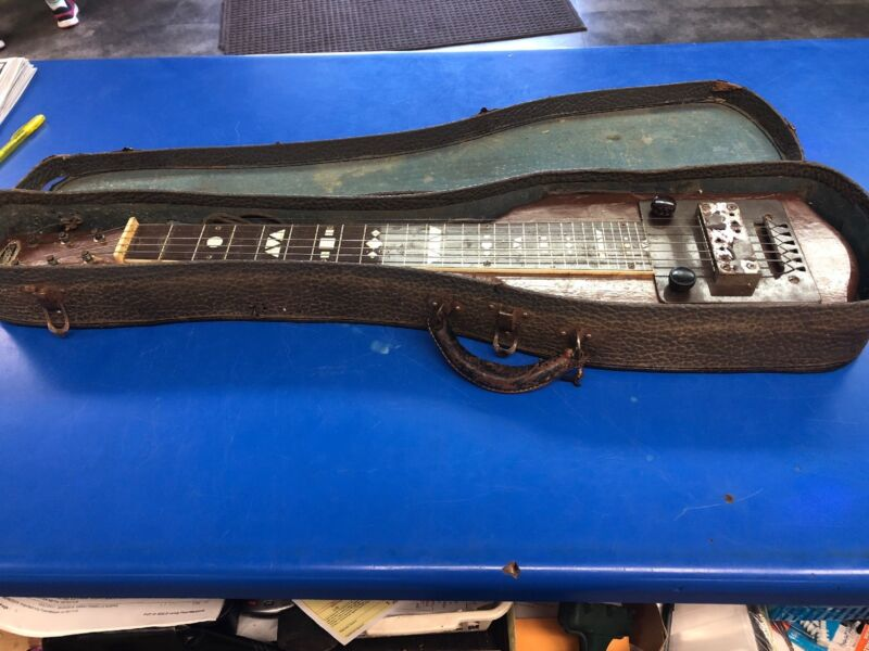 Vintage Supro / National Lap Steel Guitar - Brown Flash - With Case