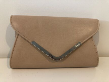 Nude Colour Clutch Bag