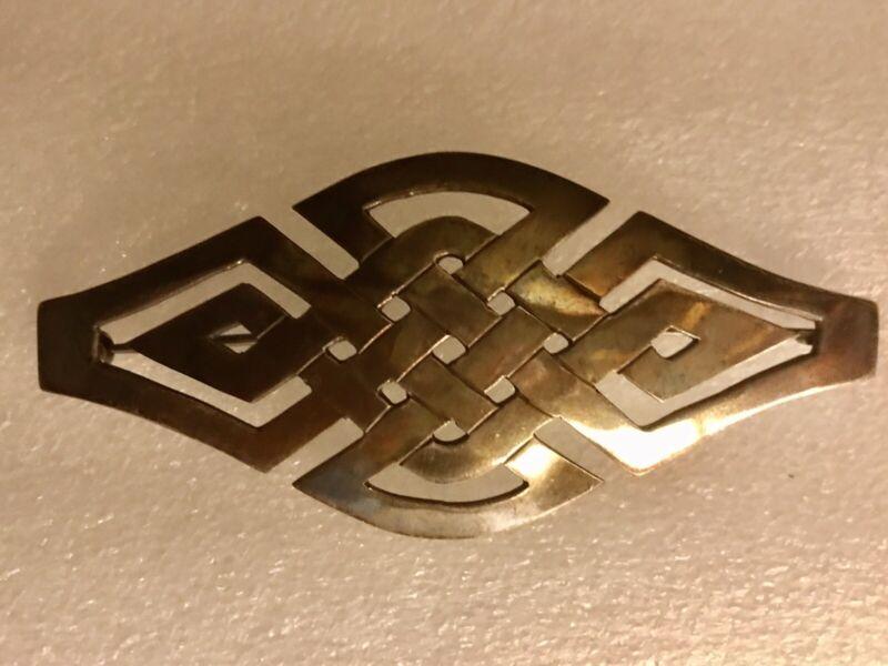 Vintage/Antique - Sterling Silver Celtic Knot Pin Brooch 925