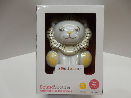 Project Nursery Sound Soother lion with 6 pre-loaded sounds & night light, NIB