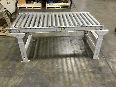 Lot Of 2 Hytrol Gravity Roller Conveyor Sections 5 Ft Section 27 Wide 200bk