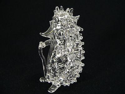 Igel mit Wanderstab aus Glas / Handarbeit 10,5 cm