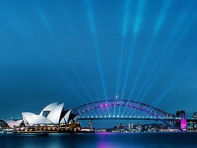 SYDNEY HARBOUR BRIDGE AUSTRALIA POSTER ART PRINT A4 260GSM (Sydney Harbour Bridge Poster)
