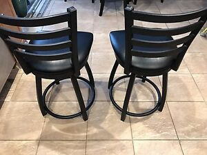 Black steel and leather chair set  Cambridge Kitchener Area image 3