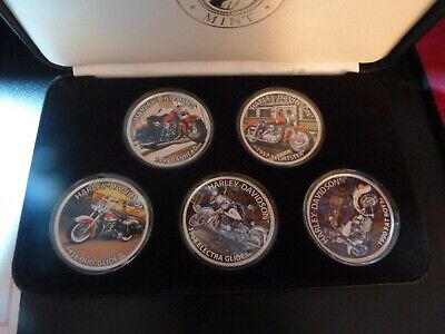 Heritage of Harley Davidson U.S. Silver Eagle Dollar Coin Collection 5 - 1 Oz