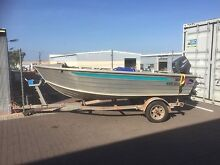 4.2 metre quintrex dory wide body with 30hp Yamaha 2 stroke motor Marrar Coolamon Area Preview