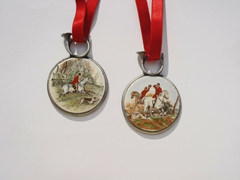 Fox Hunt and Hounds Holiday Ornaments