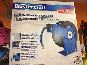 Mastercraft 50 ft PVC hose and reel