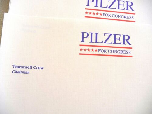 Paul Zane Pilzer 1991 Congressional Campaign Stationery 20 Vintage Unused Sheets